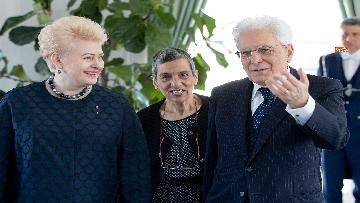 2 - Mattarella ha incontrato la presidente della Lituania al Quirinale