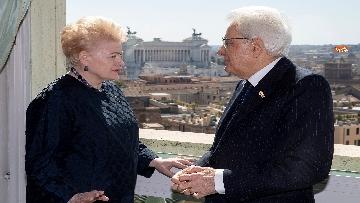 5 - Mattarella ha incontrato la presidente della Lituania al Quirinale