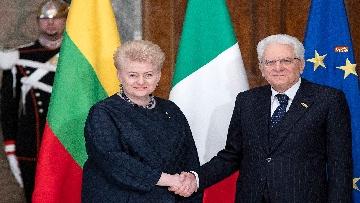 3 - Mattarella ha incontrato la presidente della Lituania al Quirinale