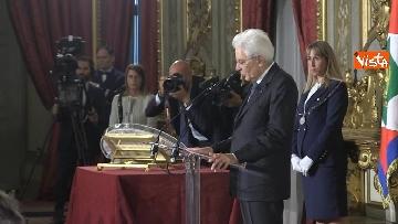 2 - Mattarella riceve il Ventaglio dall'Associazione Stampa Parlamentare al Quirinale