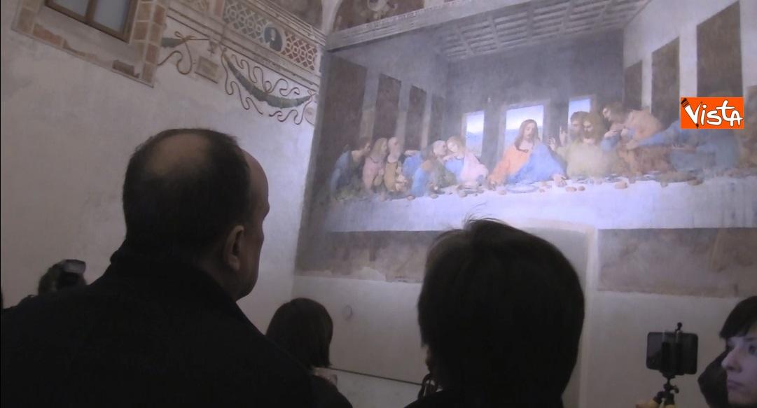 Settimana dei Musei, il ministro Bonisoli al Cenacolo Vinciano a Milano