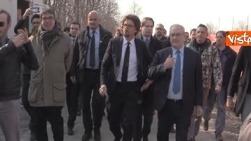 1 - Il ministro Toninelli visita il cantiere del viadotto di Annone Brianza