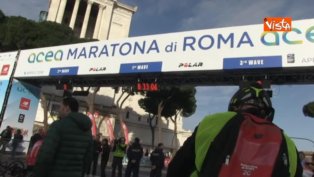 08-04-18 Al via la 24esima edizione della Maratona di Roma, le immagini