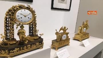10 - I magnifici orologi della mostra inaugurata da Mattarella ''Segnare le ore. Gli orologi del Quirinale''