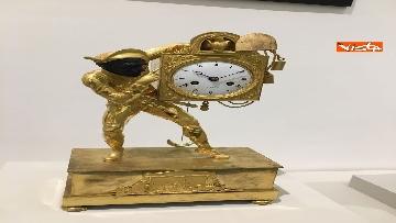 14 - I magnifici orologi della mostra inaugurata da Mattarella ''Segnare le ore. Gli orologi del Quirinale''