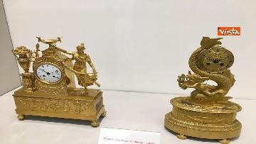 9 - I magnifici orologi della mostra inaugurata da Mattarella ''Segnare le ore. Gli orologi del Quirinale''