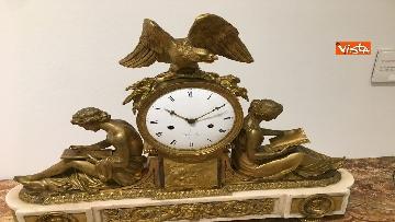 4 - I magnifici orologi della mostra inaugurata da Mattarella ''Segnare le ore. Gli orologi del Quirinale''