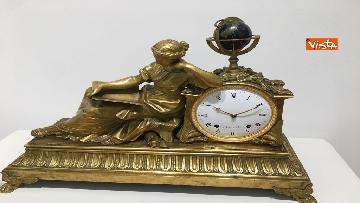 7 - I magnifici orologi della mostra inaugurata da Mattarella ''Segnare le ore. Gli orologi del Quirinale''