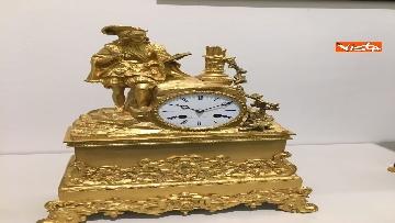 12 - I magnifici orologi della mostra inaugurata da Mattarella ''Segnare le ore. Gli orologi del Quirinale''