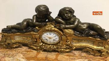 11 - I magnifici orologi della mostra inaugurata da Mattarella ''Segnare le ore. Gli orologi del Quirinale''