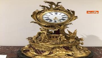 2 - I magnifici orologi della mostra inaugurata da Mattarella ''Segnare le ore. Gli orologi del Quirinale''