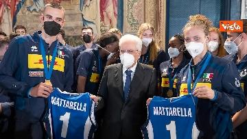 8 - Mattarella ai campioni della Pallavolo: