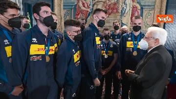 9 - Mattarella ai campioni della Pallavolo: