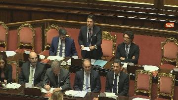 11 - Conte riferisce in Senato su Consiglio Ue e Via della seta immagini