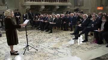 14 - Giorno del Ricordo, Mattarella al concerto celebrativo alla Cappella Paolina del Quirinale