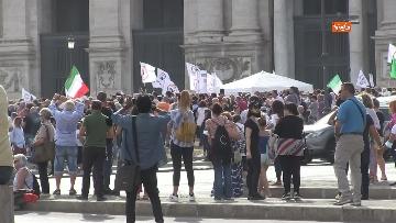 1 - Protesta contro il green pass a Piazza San Giovanni a Roma. Le foto