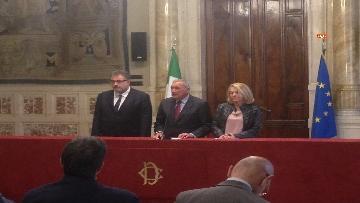 12 - 24-05-18 Consultazioni, la delegazione di Leu con Grasso, De Petris, Fornaro