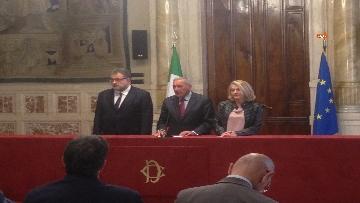 10 - 24-05-18 Consultazioni, la delegazione di Leu con Grasso, De Petris, Fornaro