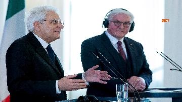 2 - Le dichiarazioni alla Stama di Mattarella e Steinmeier