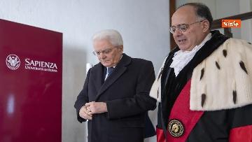 8 - Mattarella alla cerimonia di inaugurazione dell'anno accademico della Sapienza, le immagini