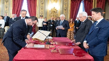 1 - Il giuramento del Ministro dello Sviluppo Economico Stefano Patuanelli