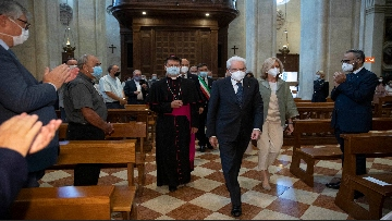 4 - Mattarella accende la Lampada per la Pace a Loreto