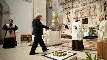 10 - Mattarella accende la Lampada per la Pace a Loreto