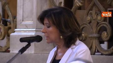 7 - La presidente del Senato Elisabetta Casellati vistita il Tempio Maggiore a Roma
