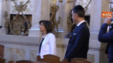 2 - La presidente del Senato Elisabetta Casellati vistita il Tempio Maggiore a Roma