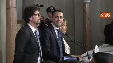 4 - Delegazione M5s dopo consultazioni con Mattarella