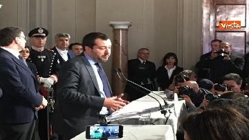 16 - Matteo Salvini dopo le Consultazioni al Quirinale