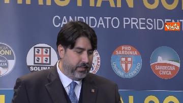 6 - La conferenza stampa del neo presidente della Rwegione Sardegna Solinas