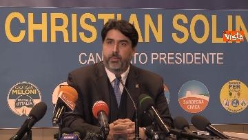 2 - La conferenza stampa del neo presidente della Rwegione Sardegna Solinas