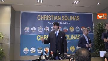 5 - La conferenza stampa del neo presidente della Rwegione Sardegna Solinas