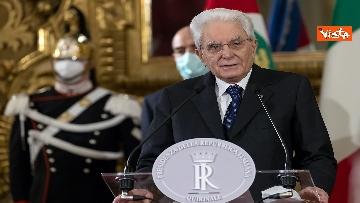 """4 - Consultazioni, Mattarella: """"Emersa maggioranza politica composta da forze di precedente governo"""""""