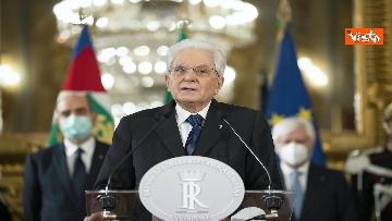 """2 - Consultazioni, Mattarella: """"Emersa maggioranza politica composta da forze di precedente governo"""""""