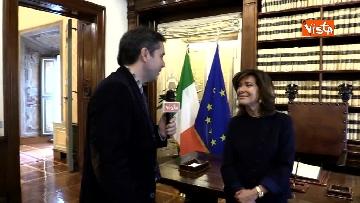 1 - Casellati l'intervista dopo proclamazione: Convergenza su mia elezione incoraggi formazione Governo