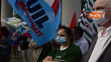 2 - Presidio Cgil, Cisl e Uil palazzo Lombardia a Milano, le foto della manifestazione
