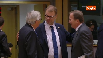 1 - Al via il secondo giorno del Consiglio Europeo, immagini