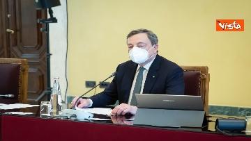 3 - Consultazioni, Draghi riceve delegazione FdI