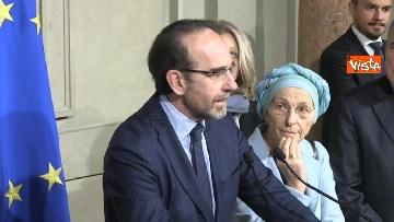 5 - Il gruppo Misto del Senato al Quirinale, Grasso, Bonino, De Petris e Nencini in conferenza stampa