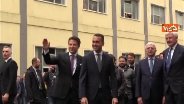 6 - Conte e Di Maio in visita allo stabilimento Leonardo di Pomigliano d'Arco (NA)