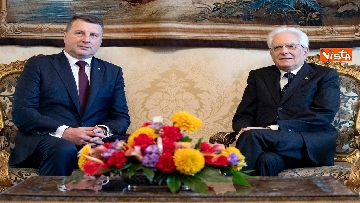 5 - Mattarella riceve al Quirinale il presidente della Repubblica di Lettonia