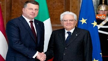 3 - Mattarella riceve al Quirinale il presidente della Repubblica di Lettonia