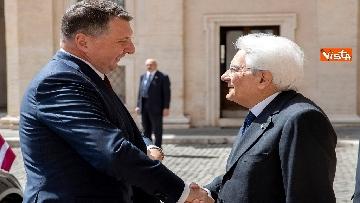 2 - Mattarella riceve al Quirinale il presidente della Repubblica di Lettonia