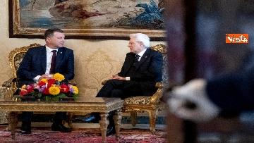 6 - Mattarella riceve al Quirinale il presidente della Repubblica di Lettonia