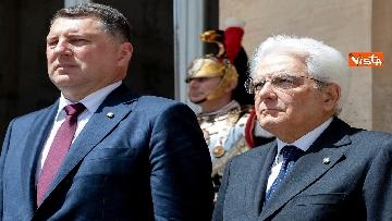 1 - Mattarella riceve al Quirinale il presidente della Repubblica di Lettonia