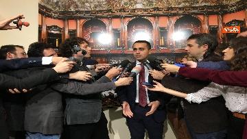 1 - Di Maio dichiara in sala stampa a Montecitorio