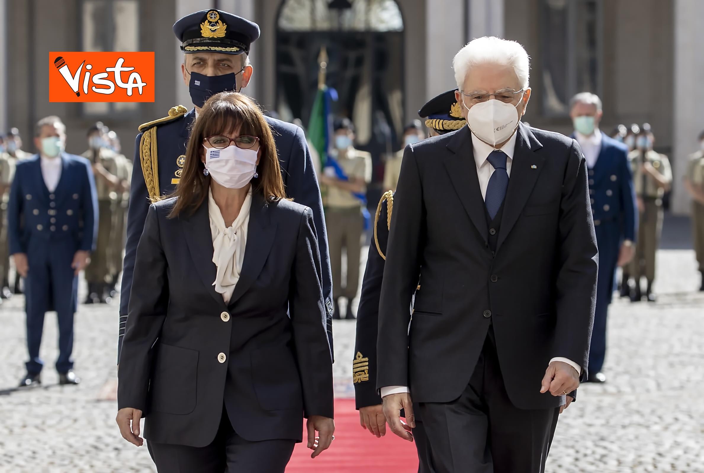 09-10-20 Mattarella riceve la Presidente della Repubblica Ellenica Sakellaropoulou, le immagini_05