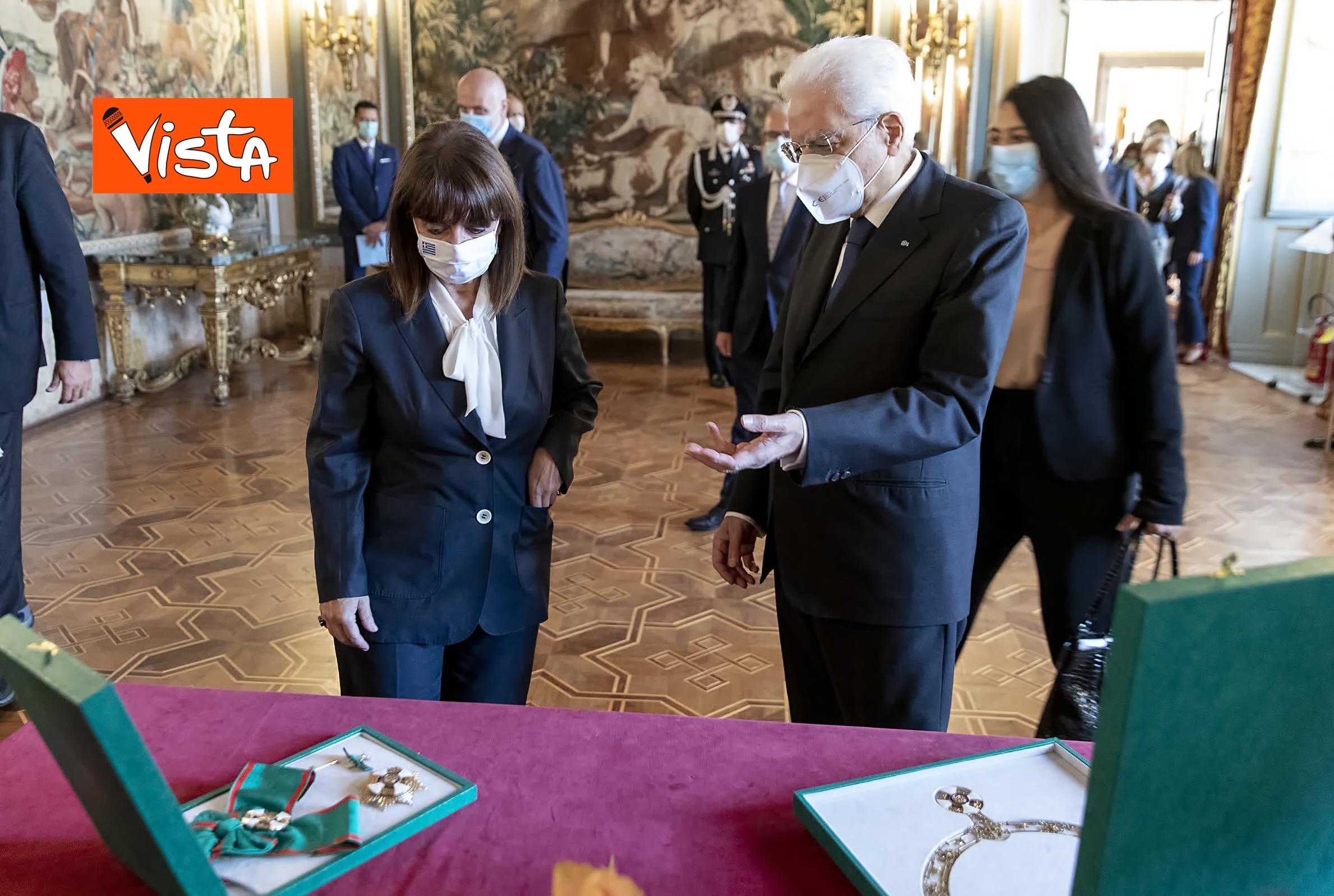 09-10-20 Mattarella riceve la Presidente della Repubblica Ellenica Sakellaropoulou, le immagini_10